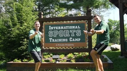 international sports training camp sign