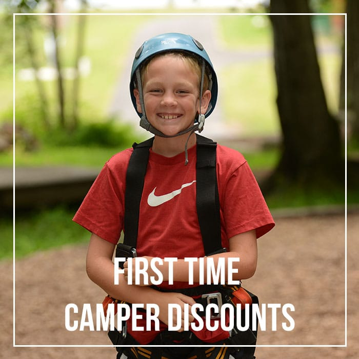 first time camper discounts