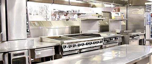 kitchen at summer camp