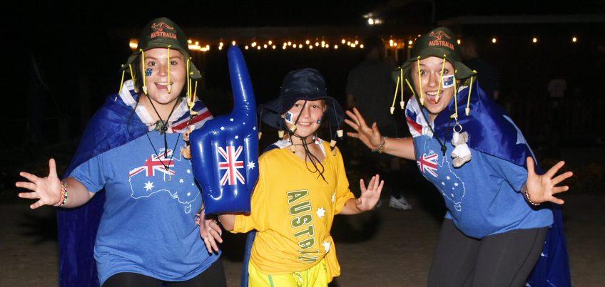 kids at summer camp dressed in australia gear
