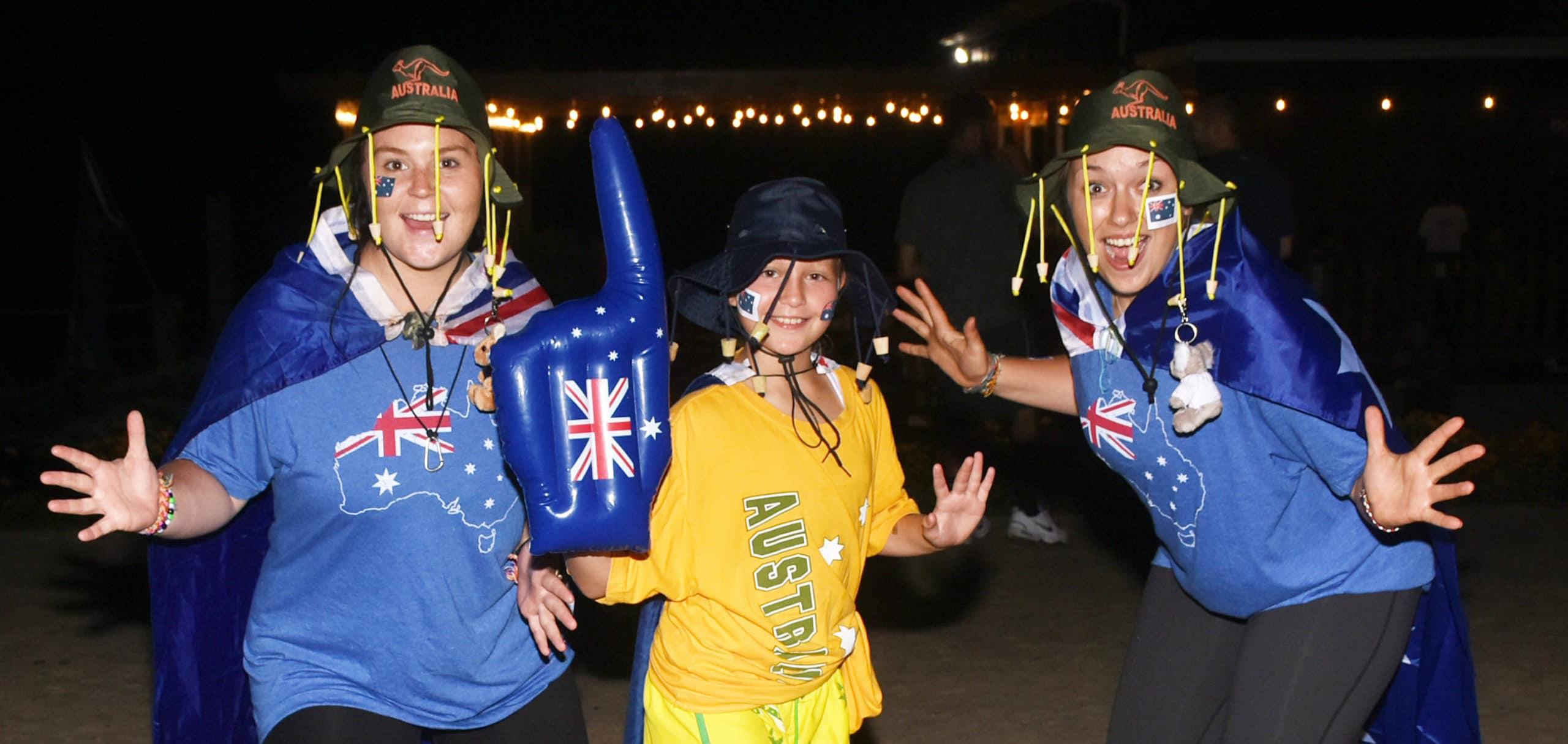 summer campers sporting Australia apparel