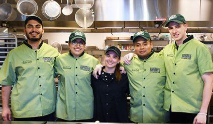 chefs in kitchen at summer camp